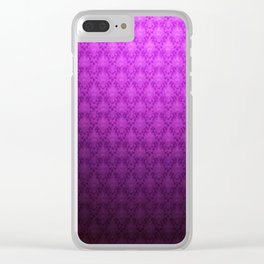 Purple Backround Clear iPhone Case