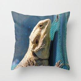 Lemmy the bearded dragon. Throw Pillow