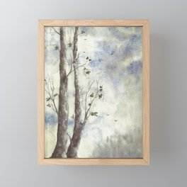 Watercolour Painting/ Trees in Autumn Framed Mini Art Print