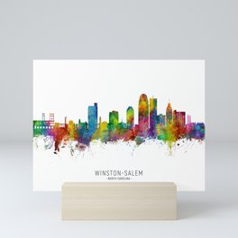 Winston-Salem North Carolina Skyline Mini Art Print