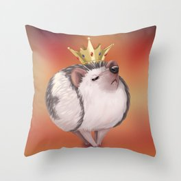Snobby Royal Hedgehog Throw Pillow