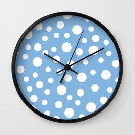 Crazy Dots: Placid Blue Wall Clock