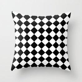 Rhombus (Black & White Pattern) Throw Pillow