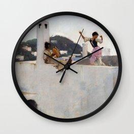 John Singer Sargent - Capri Wall Clock
