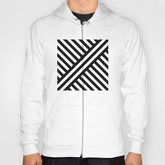 B/W two way diagonal stripes Hoody
