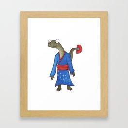 Kimono Dragon Framed Art Print