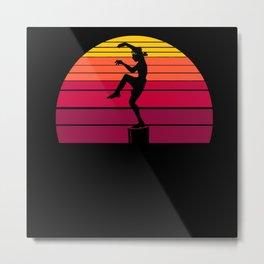 Karate Sunset Metal Print