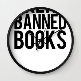 Banned Books REvised Wall Clock