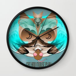 CAt and Mouse Play 2 Wall Clock