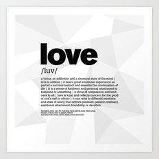 definition LLL - Love 1 Art Print