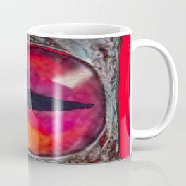 Reddish Silver Mystic Dragon Eye Jewel Coffee Mug