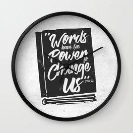 Words Have Power - Clockwork Princess Wall Clock