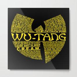 WU-TANG Metal Print