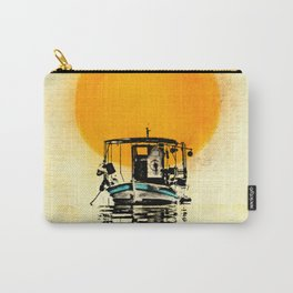 Sunset Boat Silhouette Carry-All Pouch