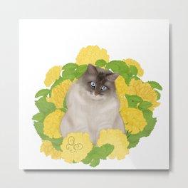 Yellow Carnation Metal Print