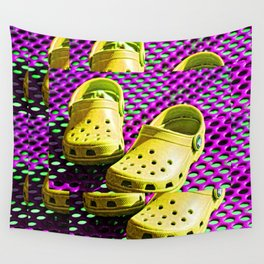 Pop Art Crocs By Sharon Cummings Wall Tapestry