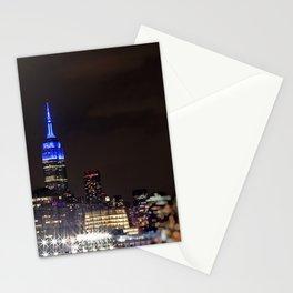 Midtown Manhattan at Night Stationery Cards