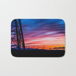 Sunset & Windmills Bath Mat