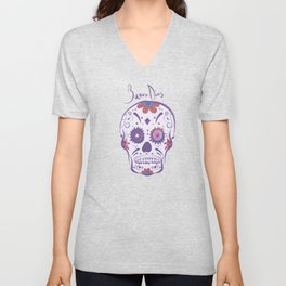 Sugar Skull Buenas Dias Unisex V-Neck