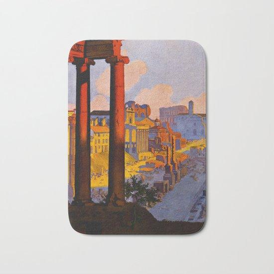 Vintage Rome Italy Travel Bath Mat