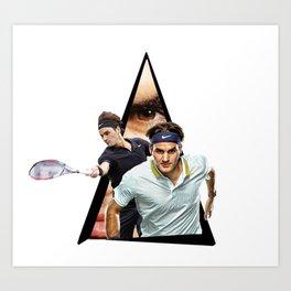Youtriangle ∆ Roger Federer Art Print