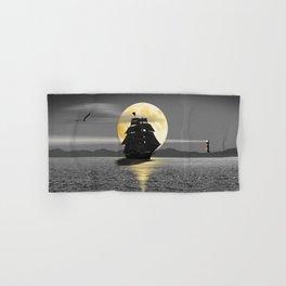 A ship with black sails Hand & Bath Towel