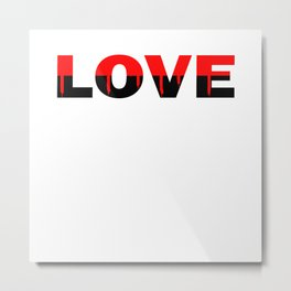 Love Relationship Red Color Of Love Metal Print