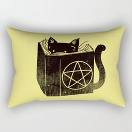 Witchcraft Cat Rectangular Pillow