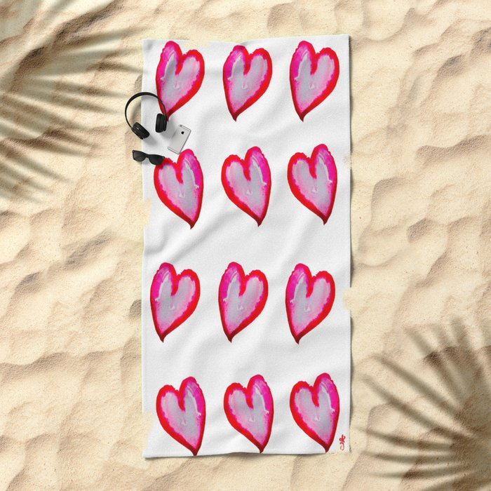 She Said She Wouldn't Go, Hearts! Beach Towel