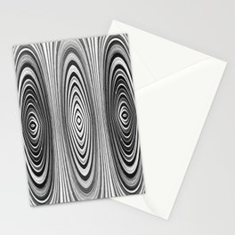 Abstract Black and White Design 651 Stationery Cards