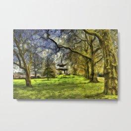 Pagoda Battersea Park Van Gogh Metal Print