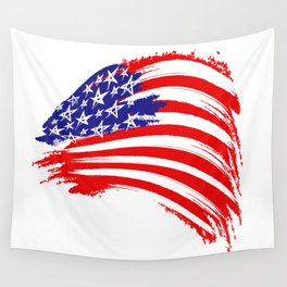 USA Sketched Flag Wall Tapestry