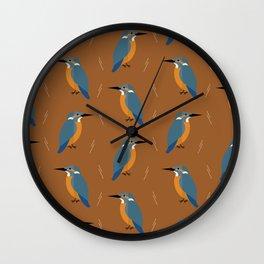 Kingfishers everywhere Wall Clock
