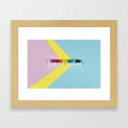 Happy little rainbow pills Framed Art Print