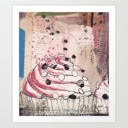 cupcakes and happiness Art Print