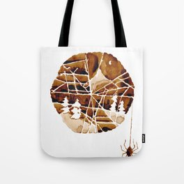 the mountain and the spider Tote Bag
