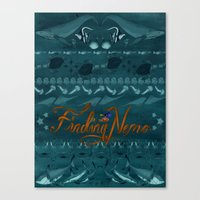 finding nemo Canvas Prints featuring FINDING NEMO by SARA JABBARI