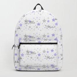 Twinkle Little Star Purple Baby Girl Nursery  Backpack