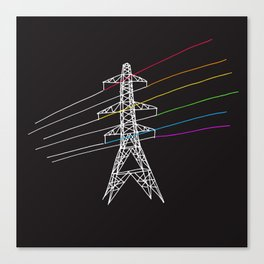 The Dark Side of Electricity Canvas Print