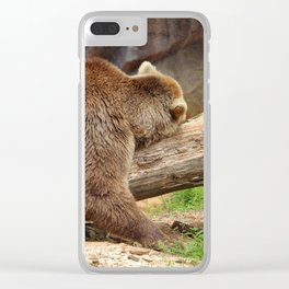 Teddy Bear At Rest 2 Clear iPhone Case