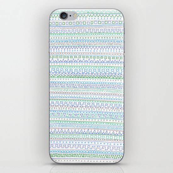 Blue Green iPhone & iPod Skin