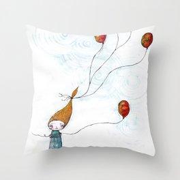 Balloonessa Throw Pillow