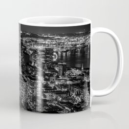 Seattle from the Space Needle in Black and White Coffee Mug