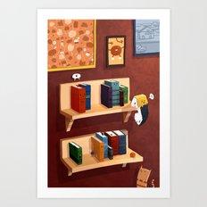 Small Books Art Print