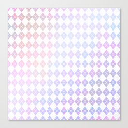 Geometrical pink violet white watercolor abstract diamonds Canvas Print