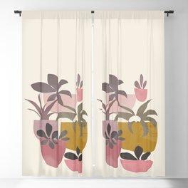 Succulents in Terracotta Blackout Curtain
