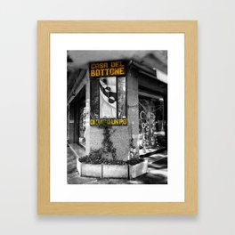 Italian Vintage Shop Black and White Photography Framed Art Print