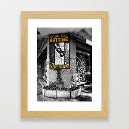 Italian Vintage Shop Black and White Photography Framed Art Print