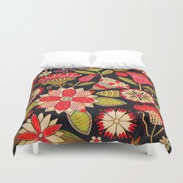 Blooms Butterflies and Ladybugs Duvet Cover