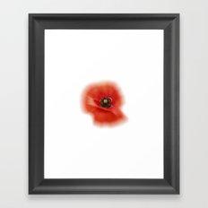 poppy zoom IX Framed Art Print